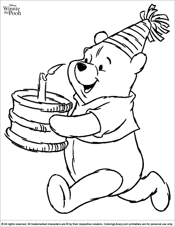 - Winnie The Pooh Colouring Sheet - Coloring Library