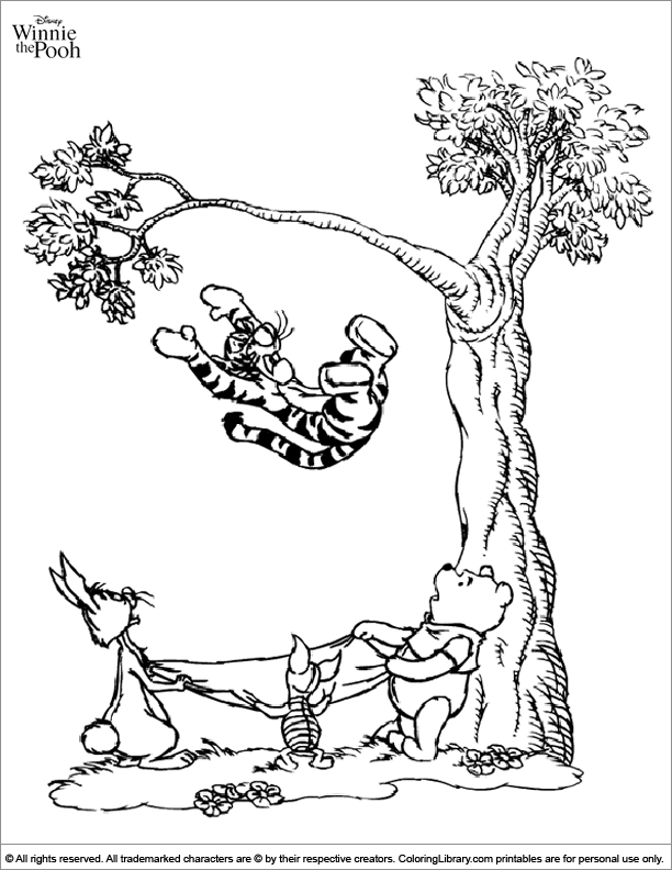 winnie the pooh coloring page to print