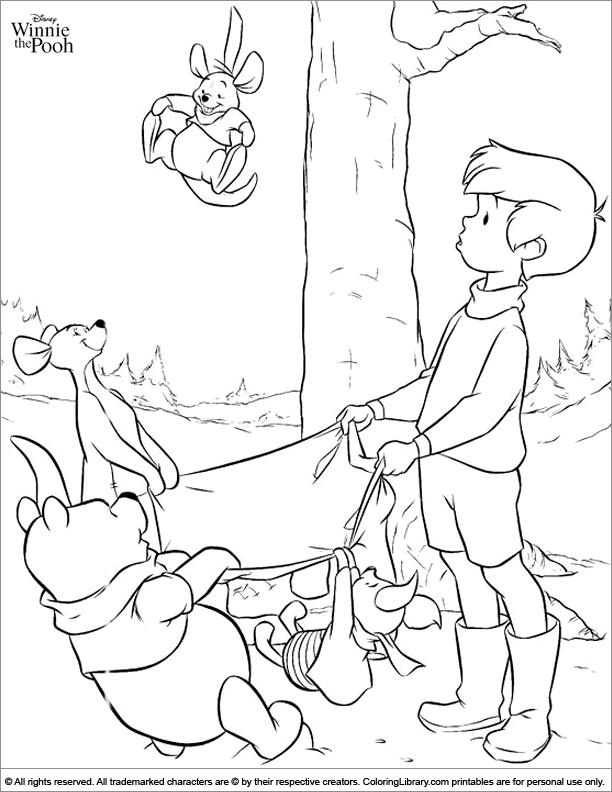 Fun Winnie the Pooh coloring sheet