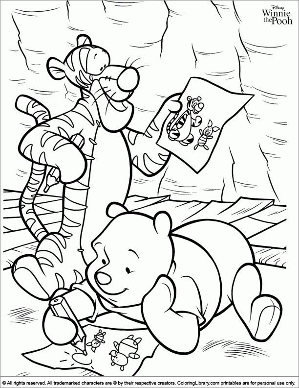 Winnie The Pooh Color Page - Coloring Library