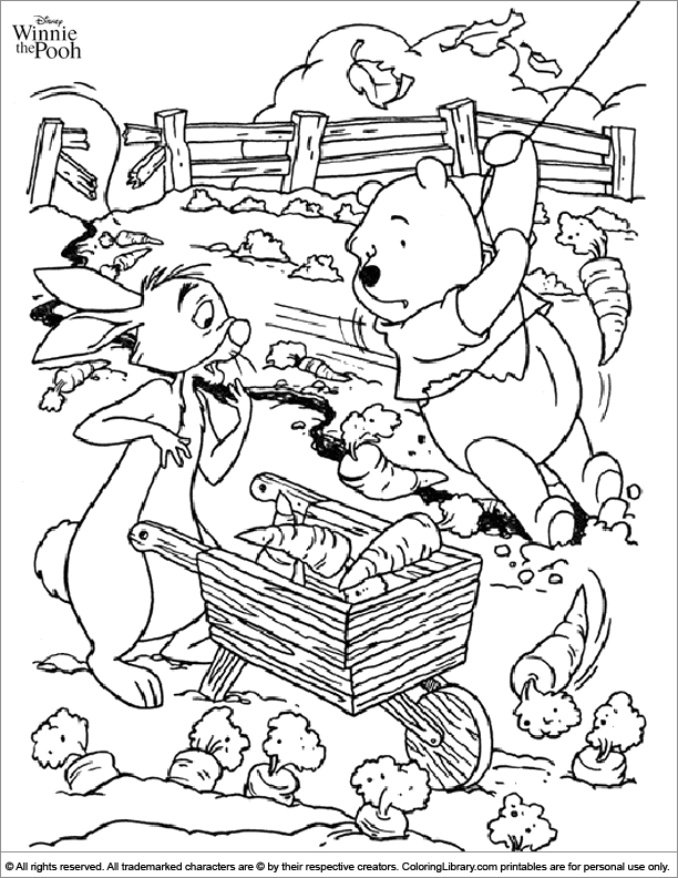 Winnie the Pooh free coloring page