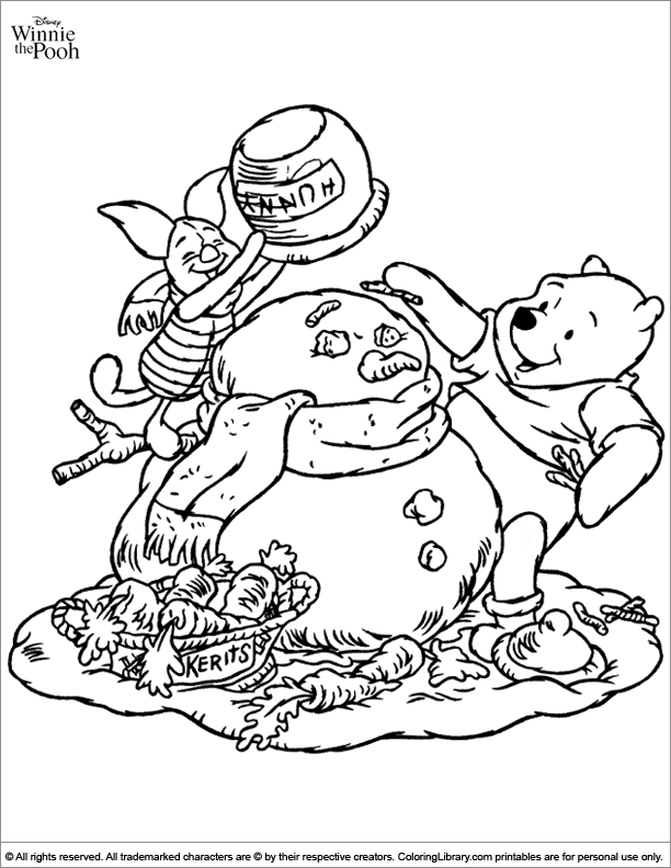 Winnie the Pooh free printable coloring page