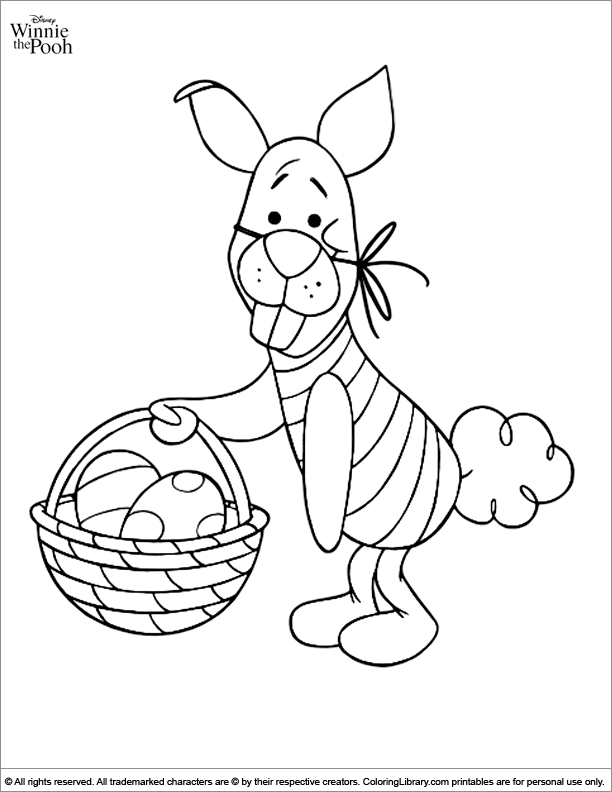 Winnie the Pooh coloring pictures for kids