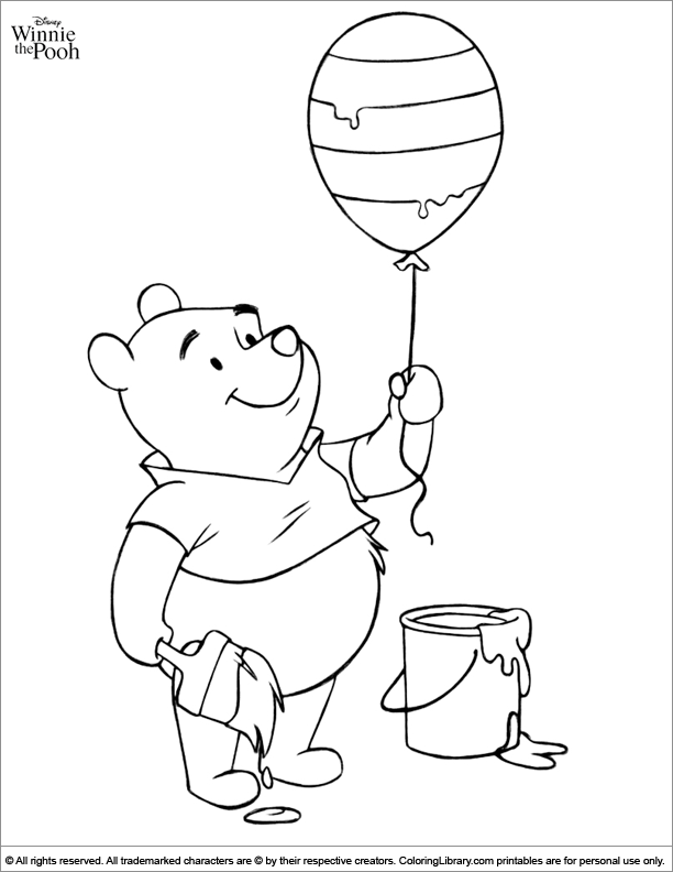 Winnie the Pooh free coloring sheet