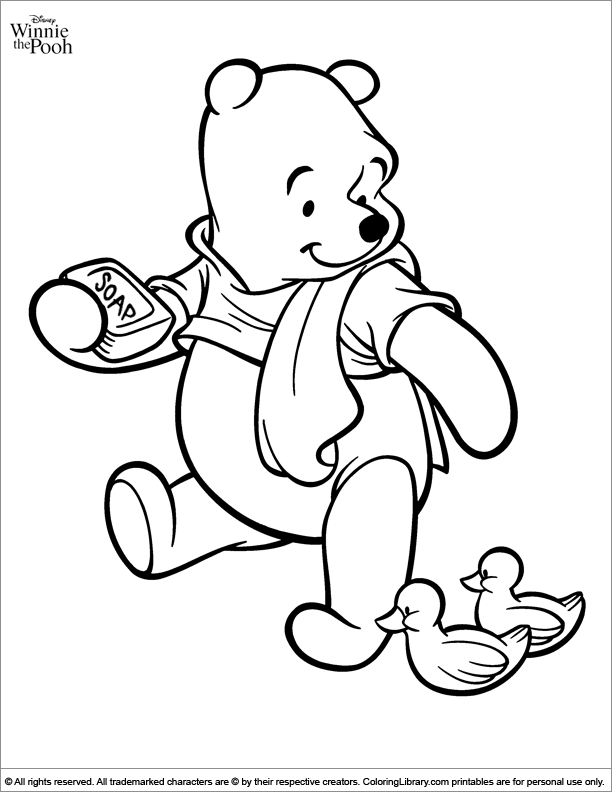 Winnie the Pooh free coloring