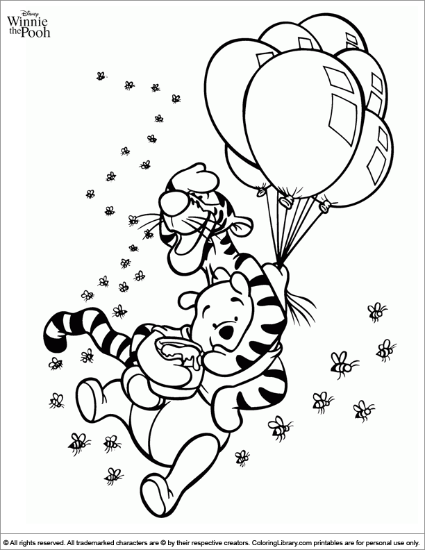 Amazing Winnie the Pooh coloring page