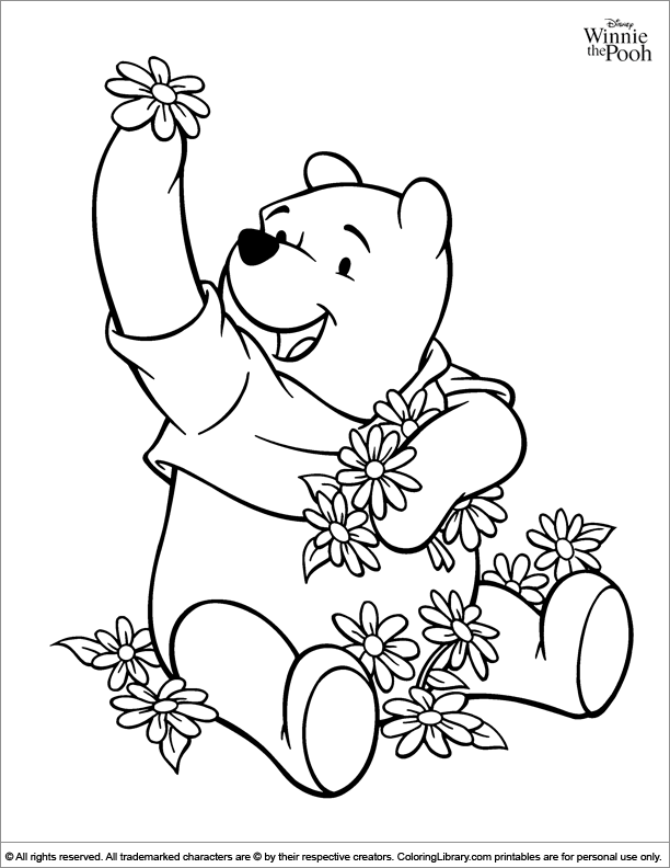 Winnie the Pooh coloring sheet