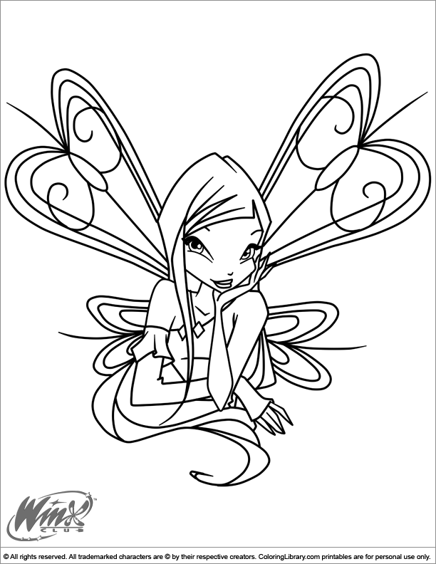 Winx Club Coloring Book Games Picture