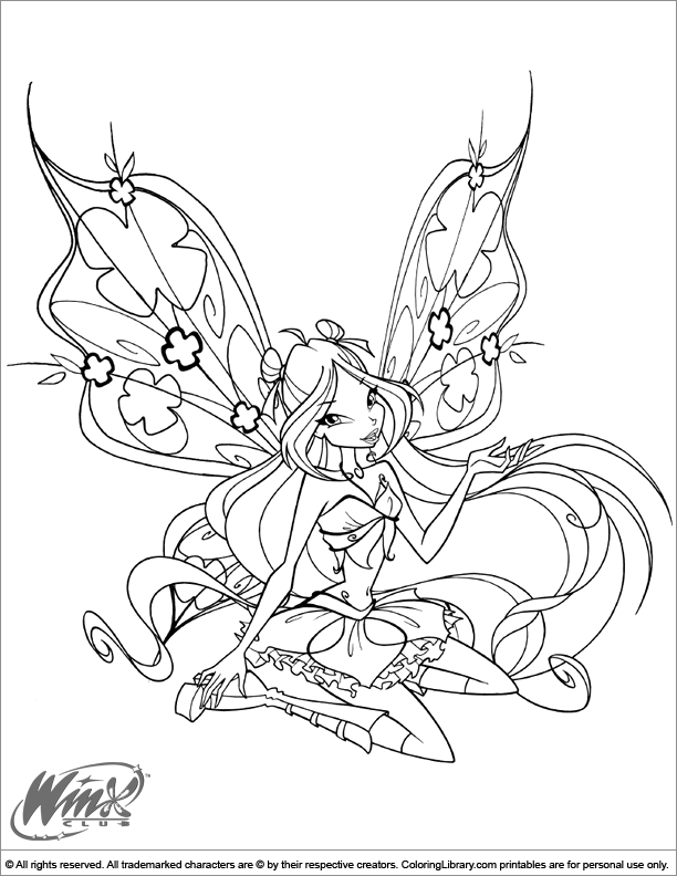 Winx Club picture to print and color