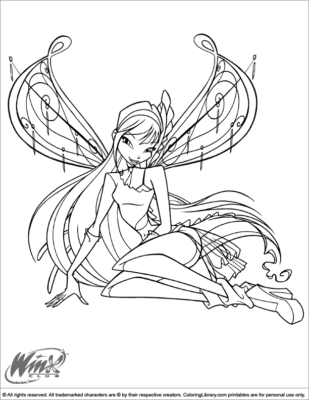 Free Coloring Pages Of Winx Love And Pet Winx Club Coloring Pages