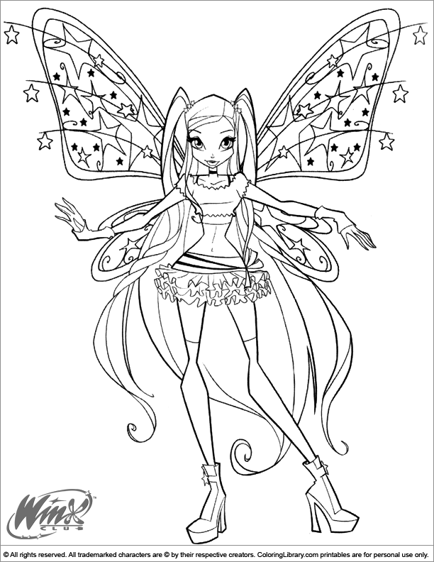 Winx Club coloring page that you can print