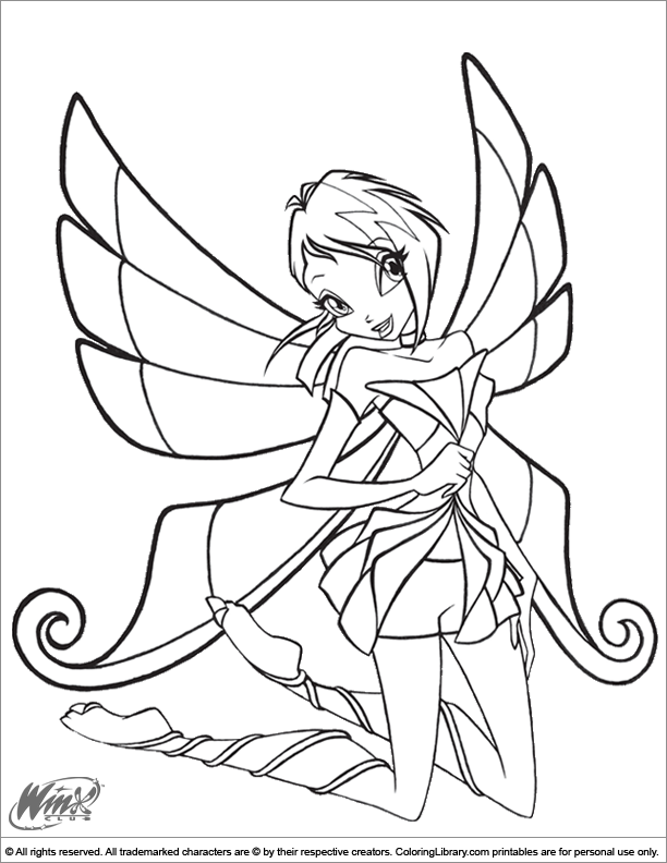 Winx Club Coloring Book Coloring Library