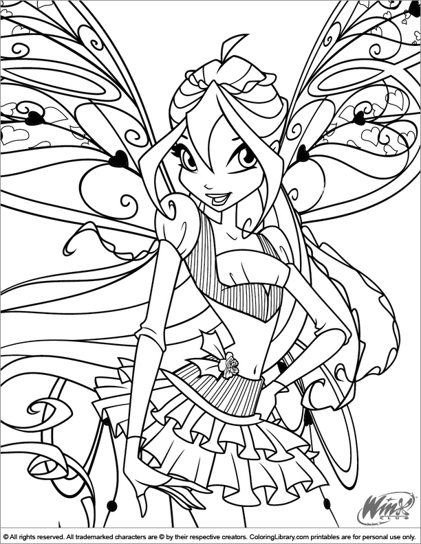Coloring Pages For Winx Club : Winx club coloring picture