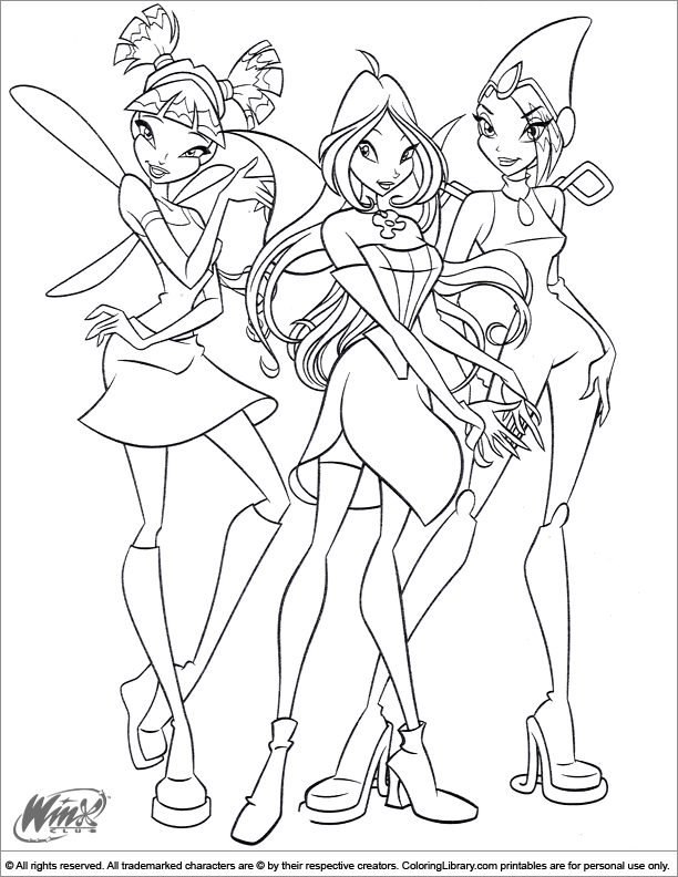 Cool Winx Club coloring page