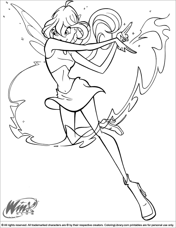 Winx Club printable coloring picture