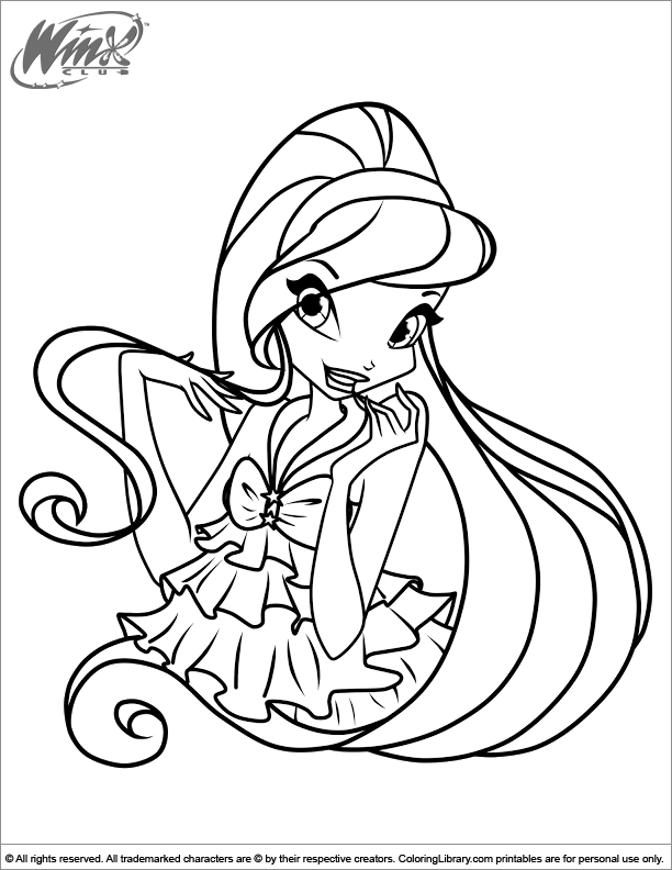 Winx Club free coloring printable