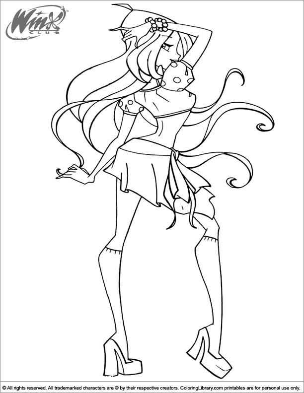 Winx Club fun coloring picture