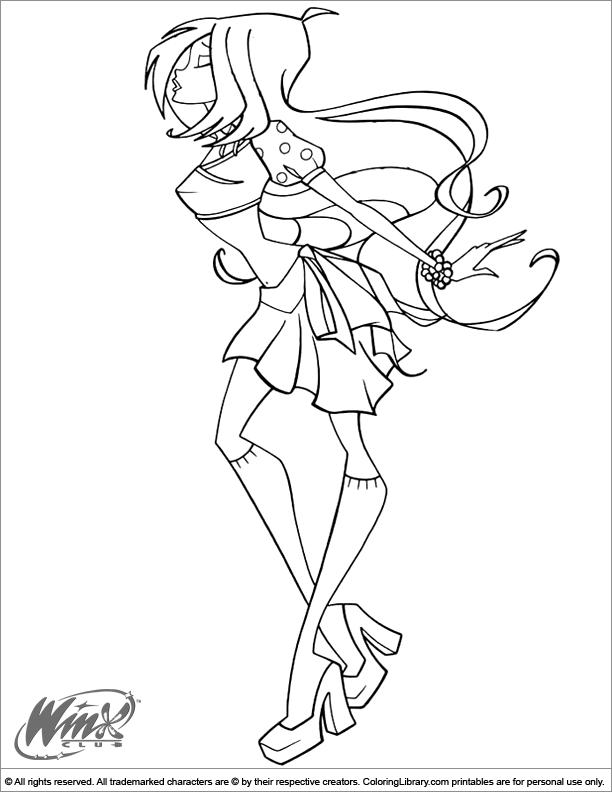 Winx Club coloring page