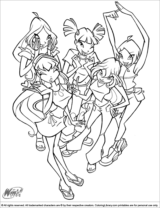 Winx Club Coloring Pages - Winxclub! Foto (18537836) - Fanpop | 792x612