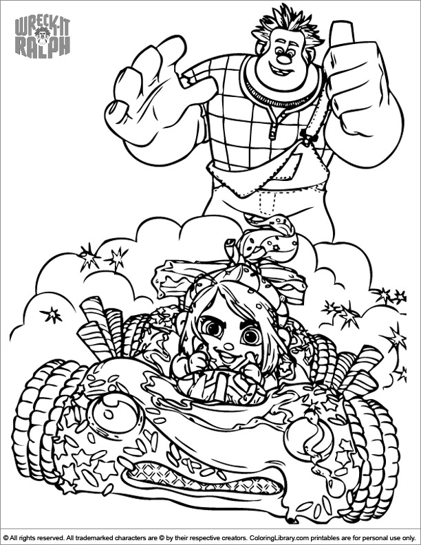 Wreck It Ralph coloring printout