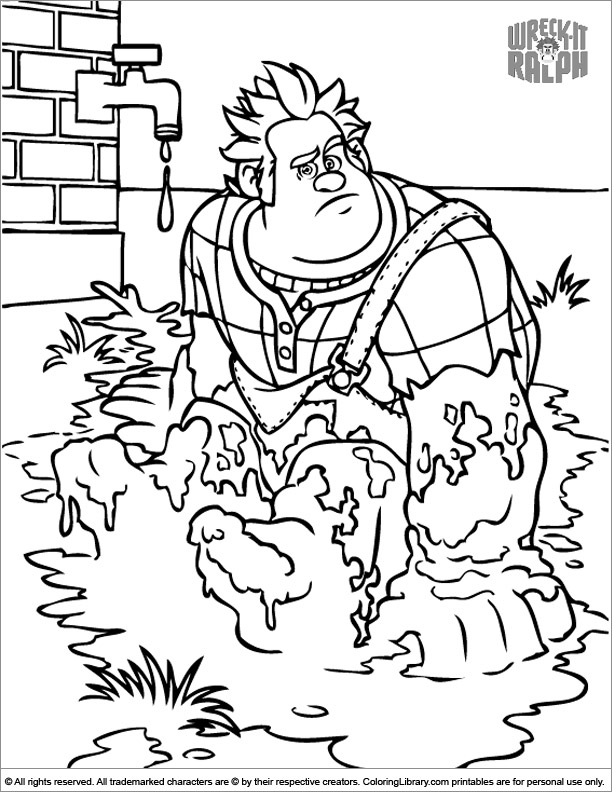 Wreck It Ralph online coloring page