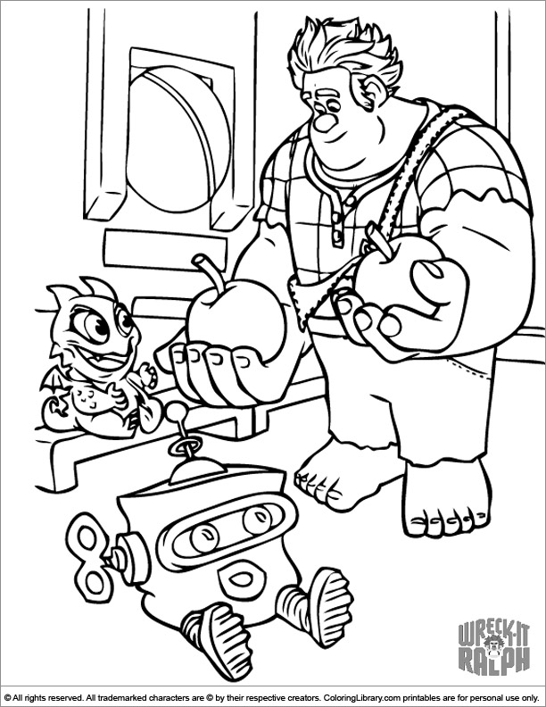 Wreck It Ralph coloring picture to print