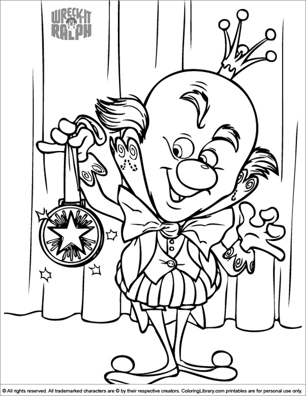 Wreck It Ralph coloring page fun