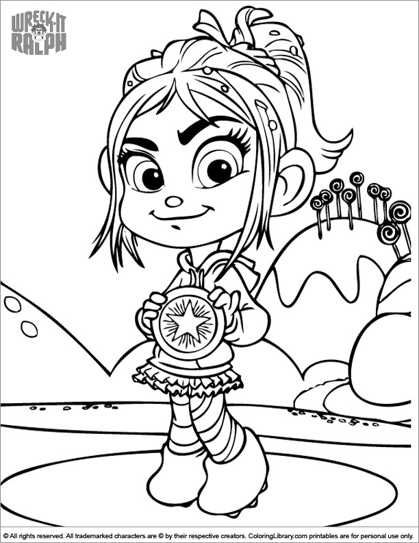Wreck It Ralph coloring book picture