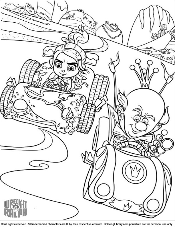 Wreck It Ralph coloring sheets for kids