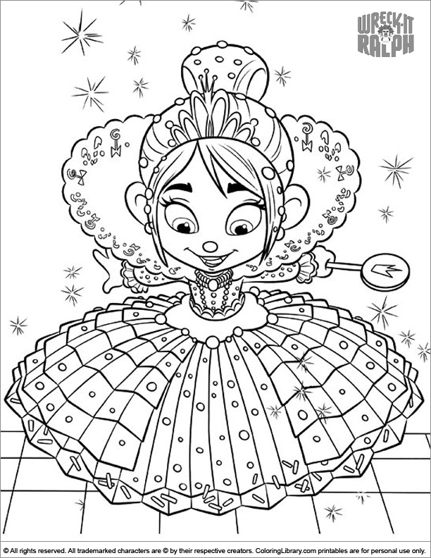 Wreck It Ralph coloring page free