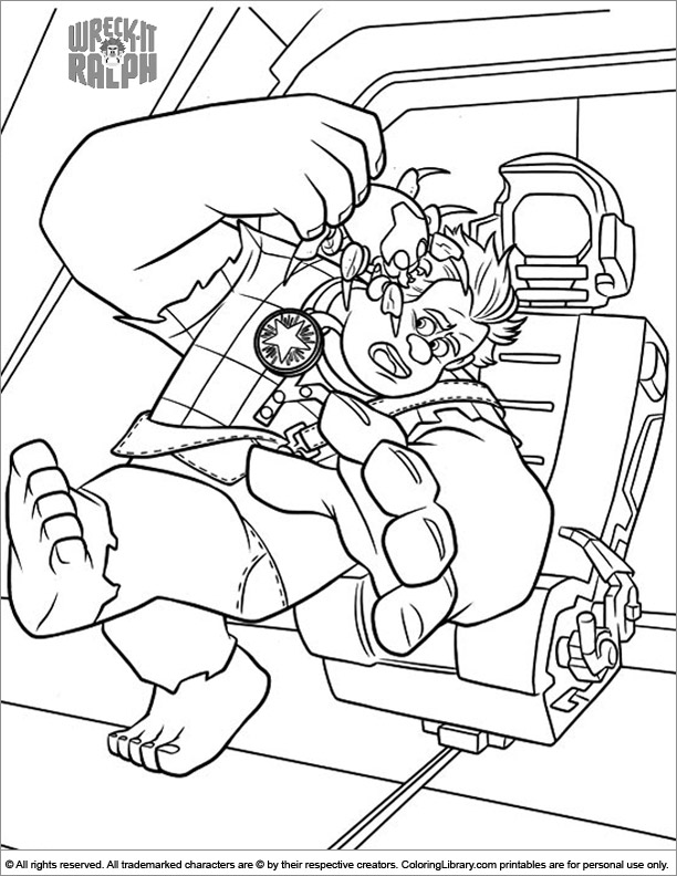 Wreck It Ralph free coloring sheet