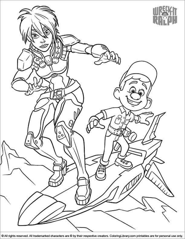 Wreck It Ralph free online coloring page