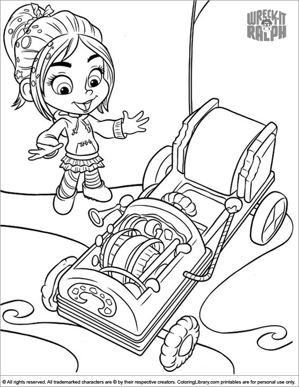 Wreck It Ralph printable coloring picture