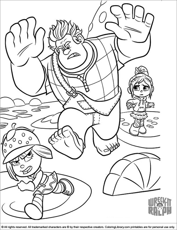 Wreck It Ralph coloring for kids free