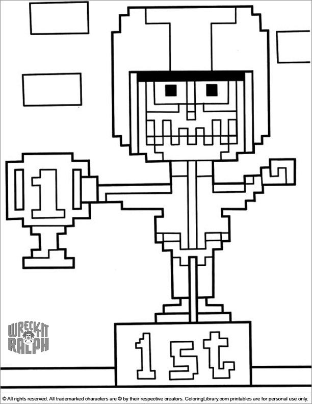 Wreck It Ralph free coloring printable