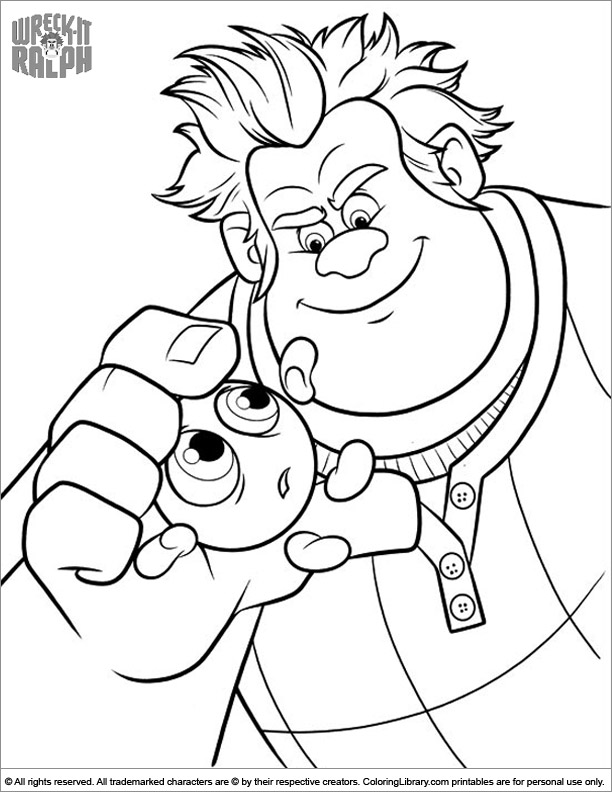 Amazing Wreck It Ralph coloring page