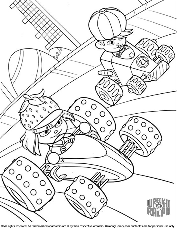Wreck It Ralph coloring page to color for free