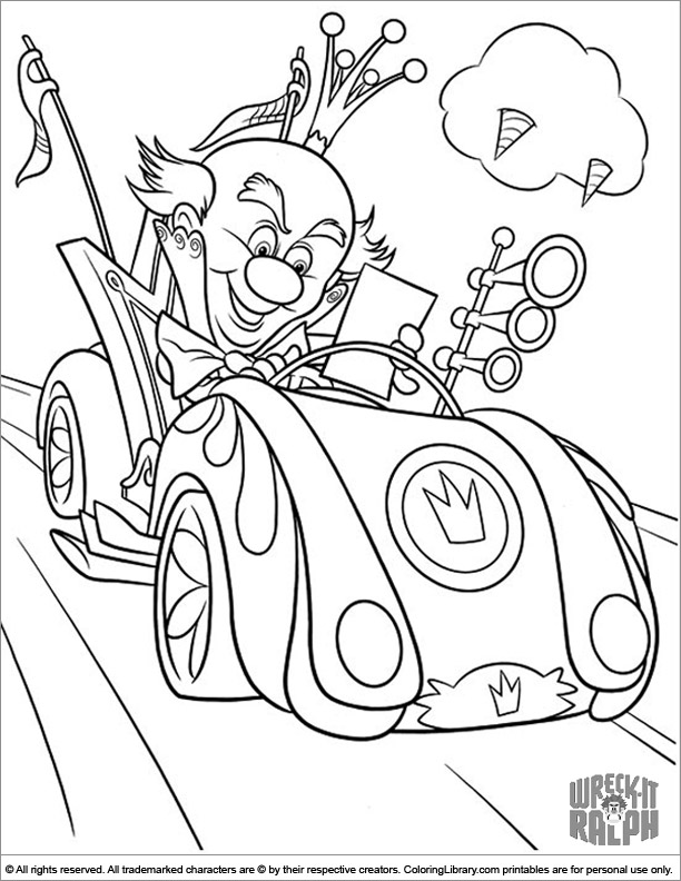 Wreck It Ralph free coloring page for children