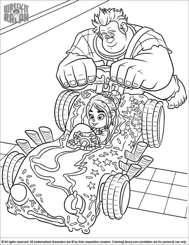 Wreck It Ralph free coloring book page