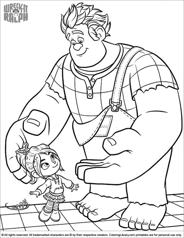 Wreck It Ralph coloring book sheet