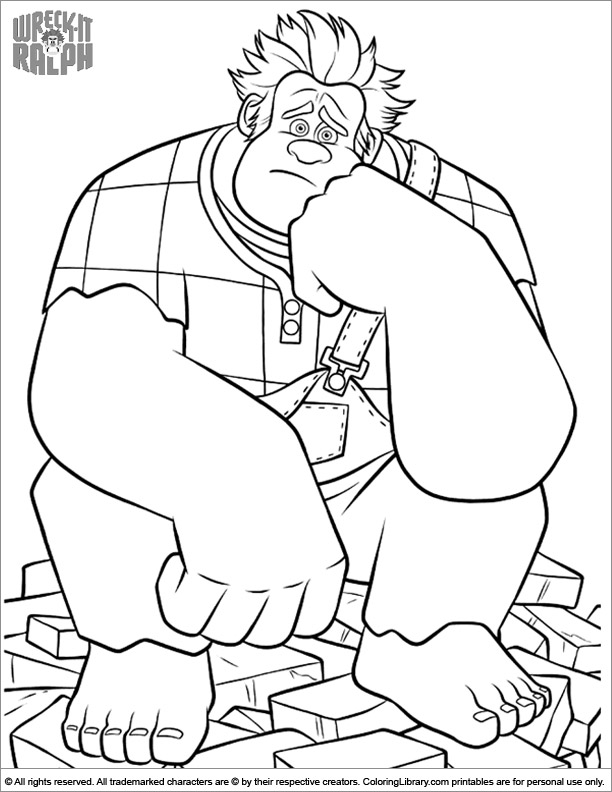 Wreck It Ralph coloring page that you can print