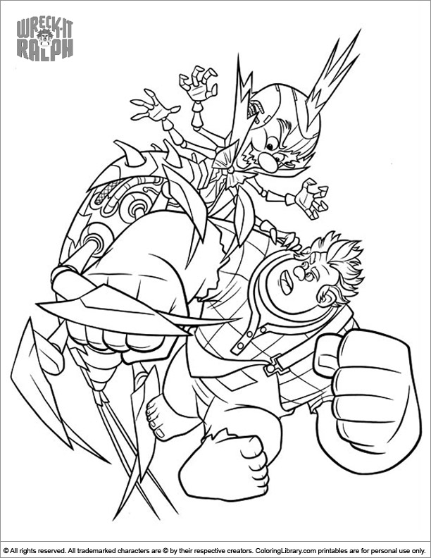 Wreck It Ralph colouring page