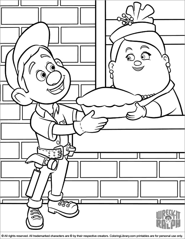 Wreck It Ralph free printable coloring page