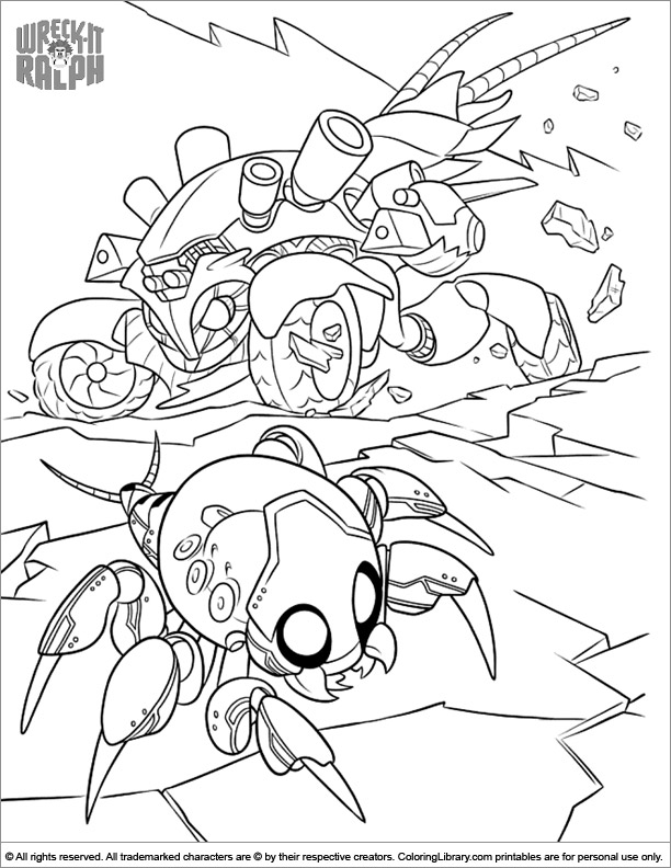 Wreck It Ralph coloring page to print