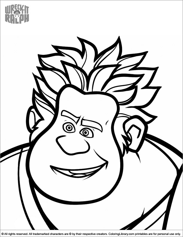 Wreck It Ralph coloring page online