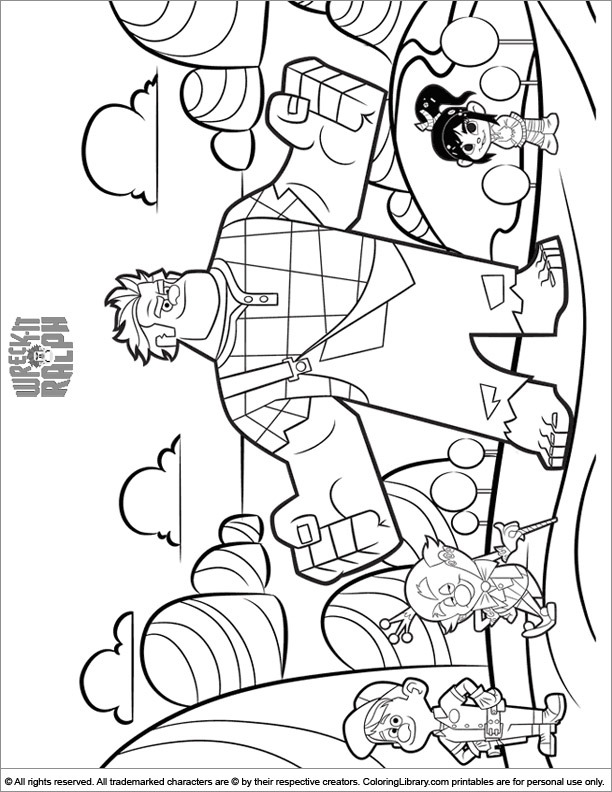 Wreck It Ralph coloring book page