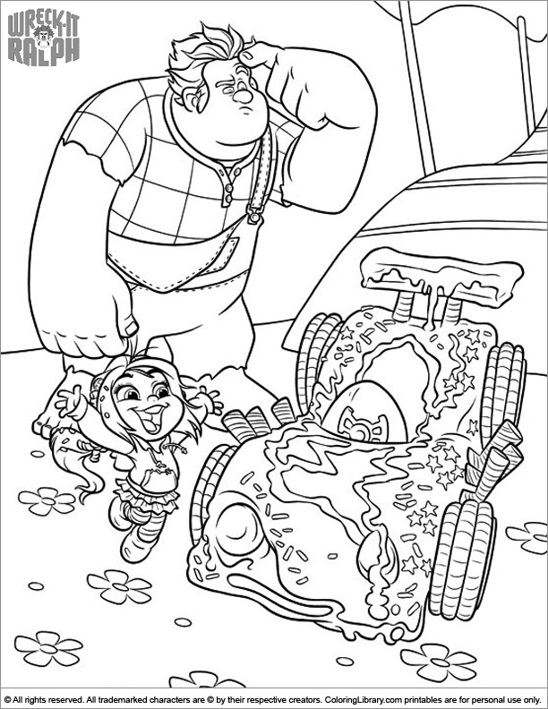 Printable Wreck It Ralph coloring page