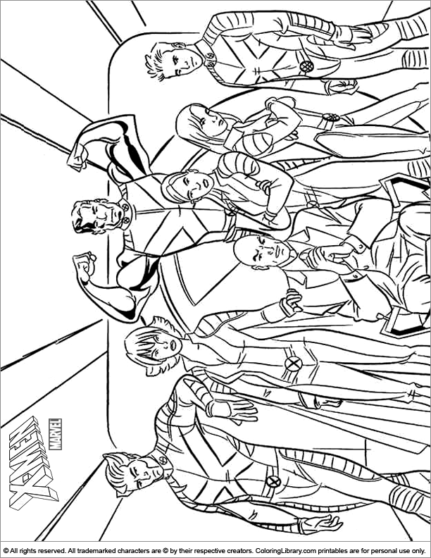 X men coloring book picture - Coloring Library