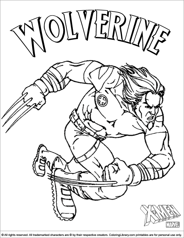 X men free coloring page