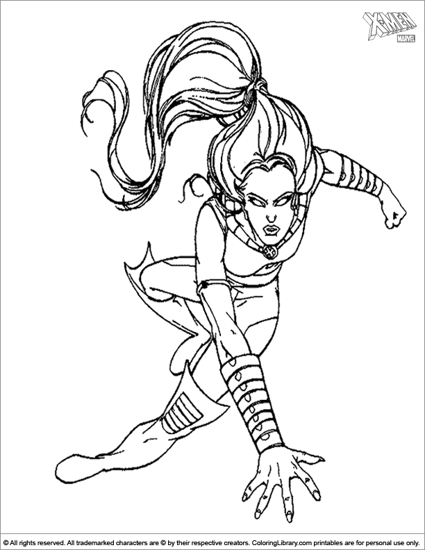 X men coloring book page for kids - Coloring Library